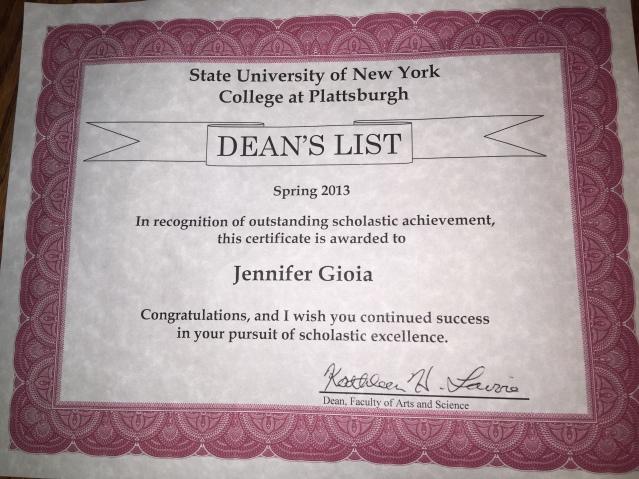 deans list 2013
