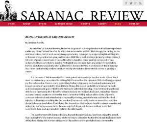 I manage the interns' blog posts for Saranac Review's blog, which includes editing before being published.