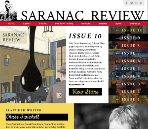 Before Saranac Review's new website went live, I proofread and edited the entire site.